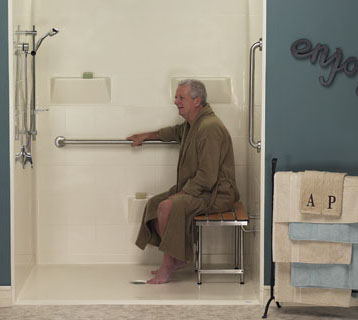 handicap showers for comfortable ageing